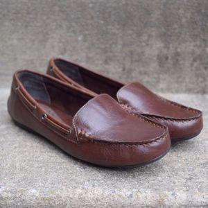 Børn b.ø.c. Brown Faux Leather Loafers